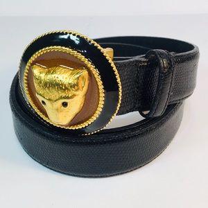 Carlisle Black Grain Leather Belt